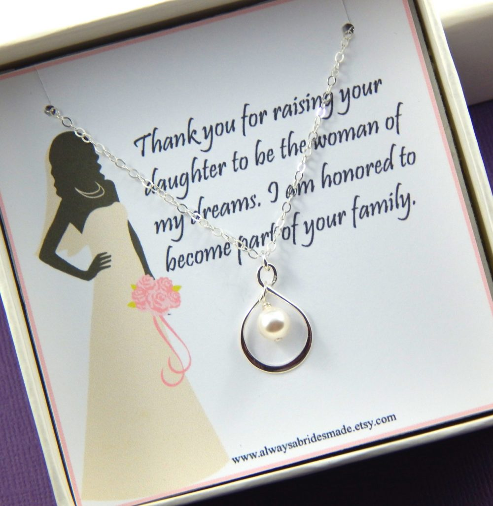 Mother Of The Bride Necklace Gift, Of The Necklace, Gift Box Necklace, Mother Wedding Gift