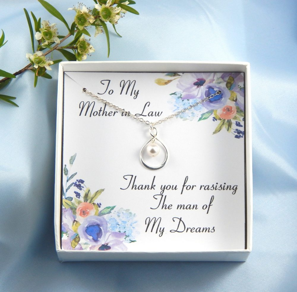 Thank You For Raising The Man Of My Dreams Necklace, Mother Groom Gift, Gift Mother Groom, Gift From Bride To in Law