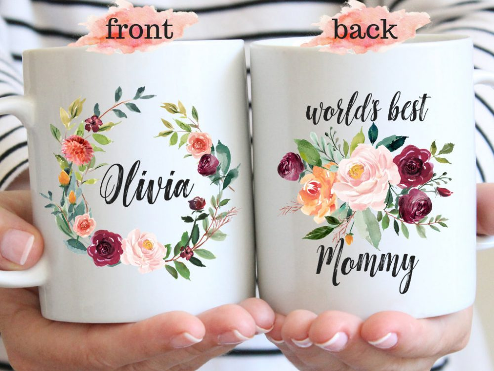 World's Best Mom Coffee Mug, Personalized Mommy Mugs, Gift For Mother, Funny Mom, Mother Gifts, Pregnancy Reveal, Mother's Day Mugs