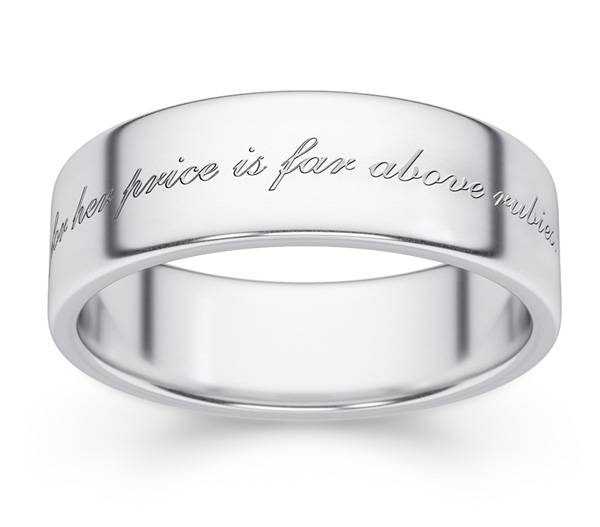 Proverbs 31 Bible Verse Ring in Sterling Silver