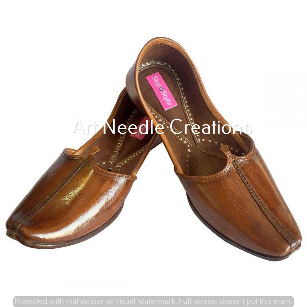 Indian Flip-Flops Genuine Leather Men Shoes Handmade Jutti Wedding Juti