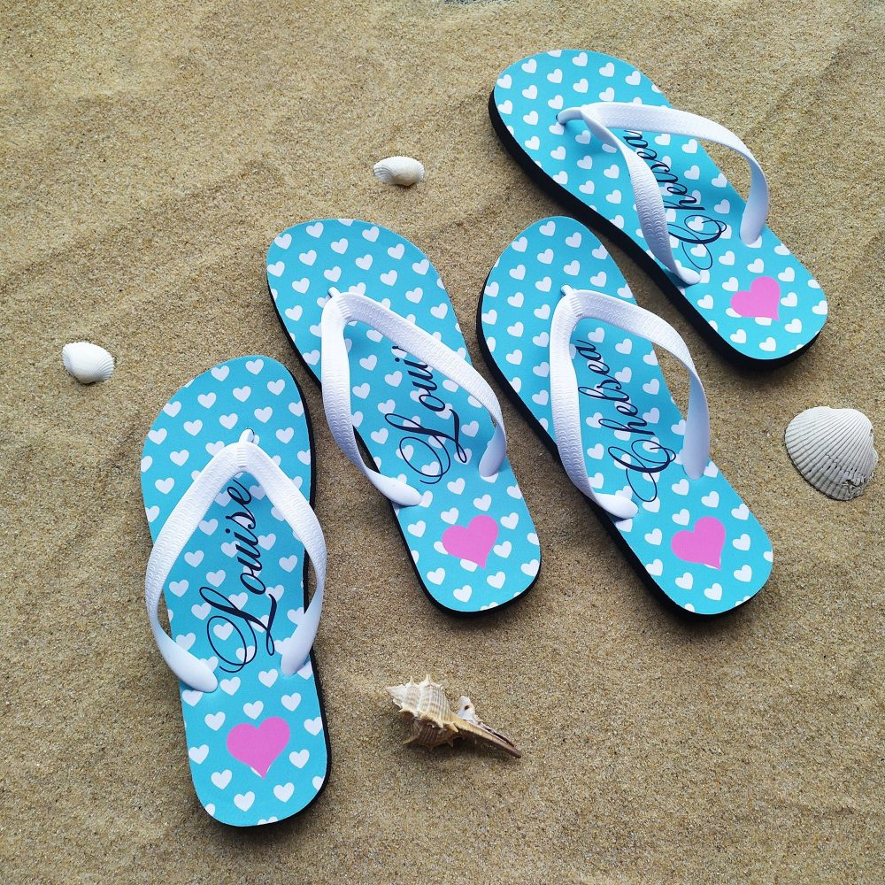 Beach Wedding Flip Flops, Bridesmaid Honeymoon Bride Groom Flop, Flop, Custom Flip Flop