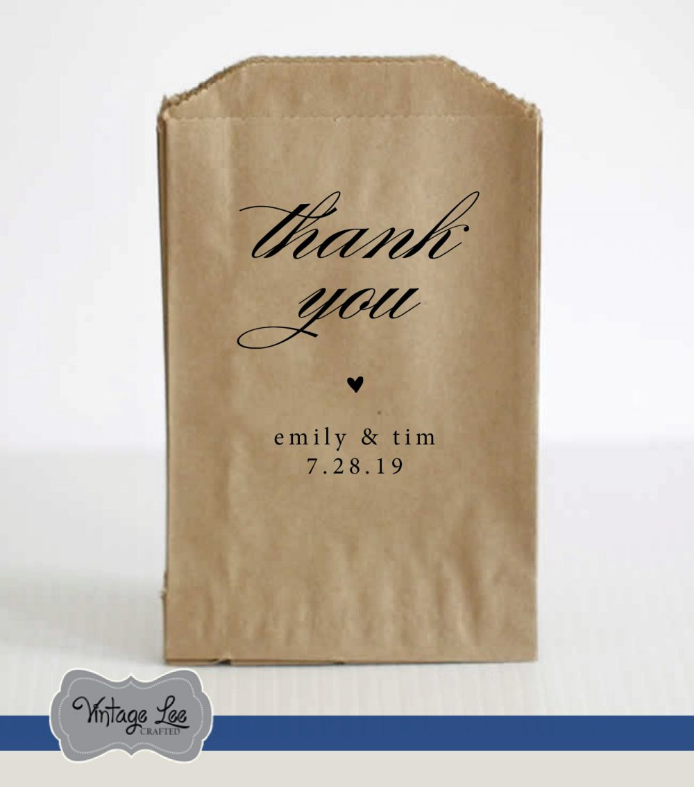 Wedding Favor Bags, Treat Welcome Favors, Candy Thank You Guest Favors