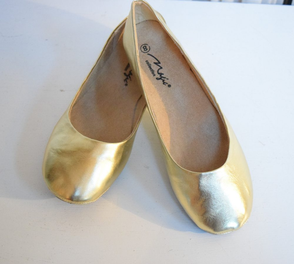 Ballet Flats Gold Metallic Womens Flat Shoes Wedding Dancing Bridal Bridesmaid Prom