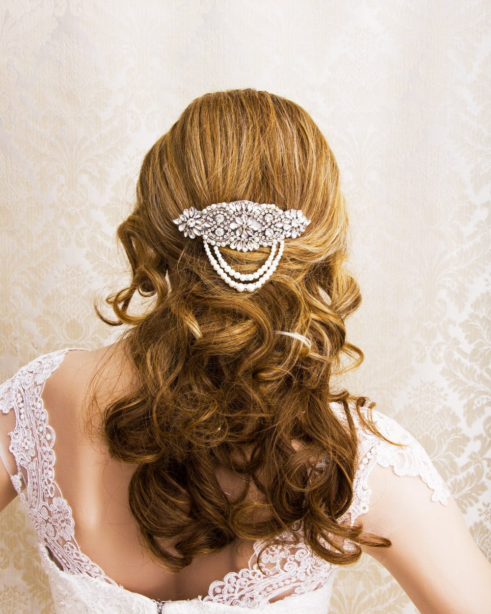 Wedding Hair Comb, Pearl Bridal Accessories, Wedding Crystal Vintage Comb, Bridal Jewelry
