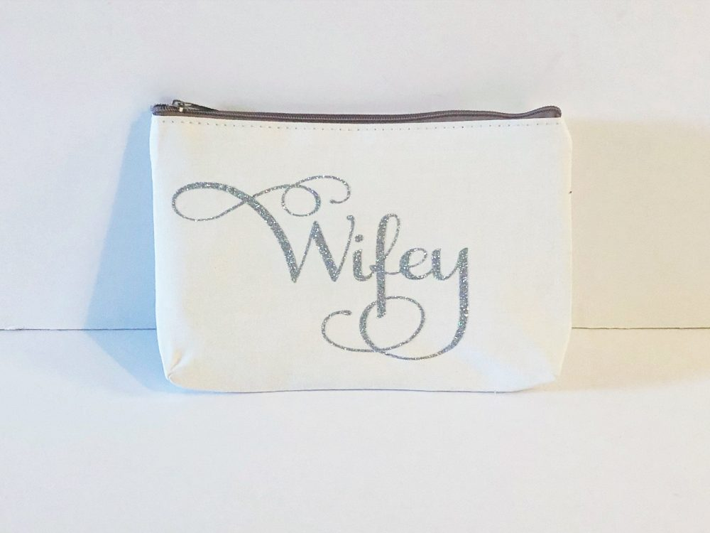 Bridal Makeup Bag, Bridesmaid Gift, Clutch, Purse, Glitter, Custom Name, Wedding Bridal Party Gift For Teen