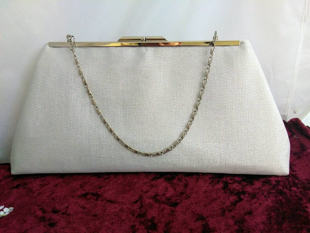 Silver Clutch Purse, Silver Cocktail Evening Bridal Bridesmaid Gift, Retro Clutch