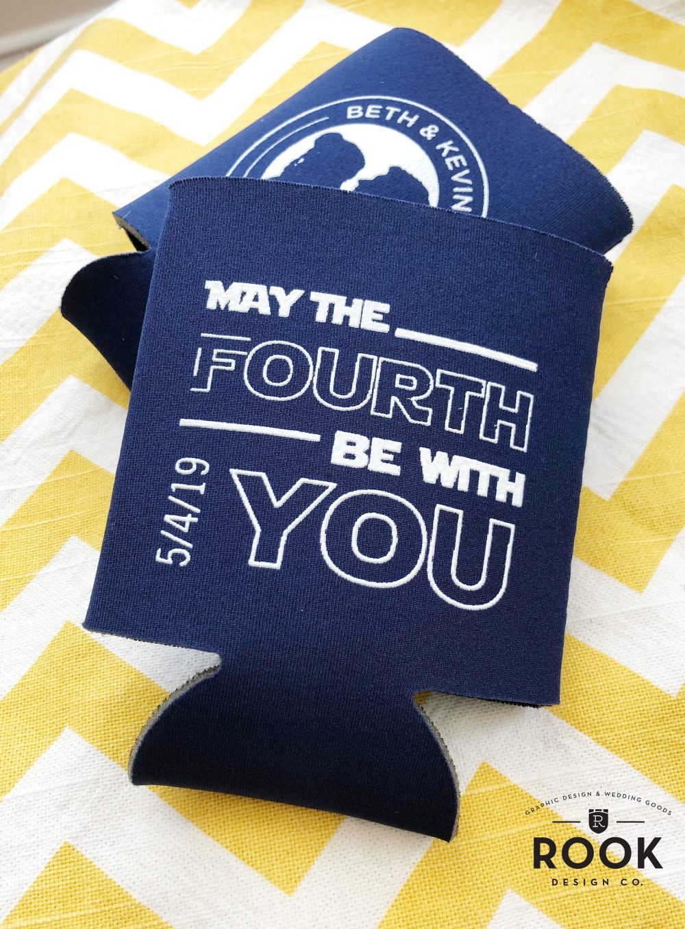 May The Fourth Be With You Can Coolers, May 4Th Wedding, Star Wars Wedding Favor, Koozy, Princess Leia, Funny Coolers