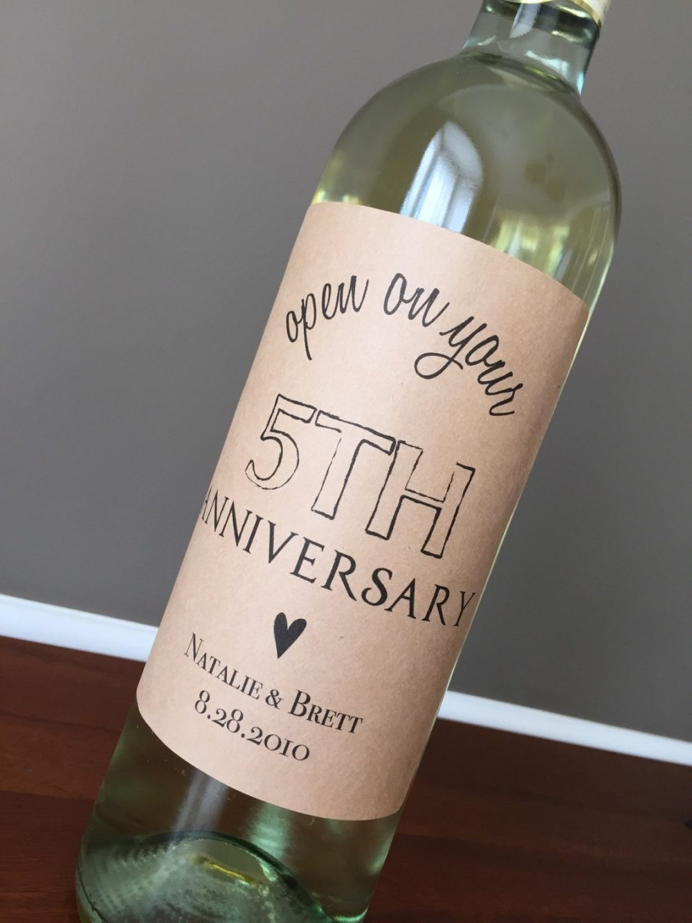 Anniversary Wine Labels, Wedding Engagement Gift, Shower Wine Labels, Guest Book Labels