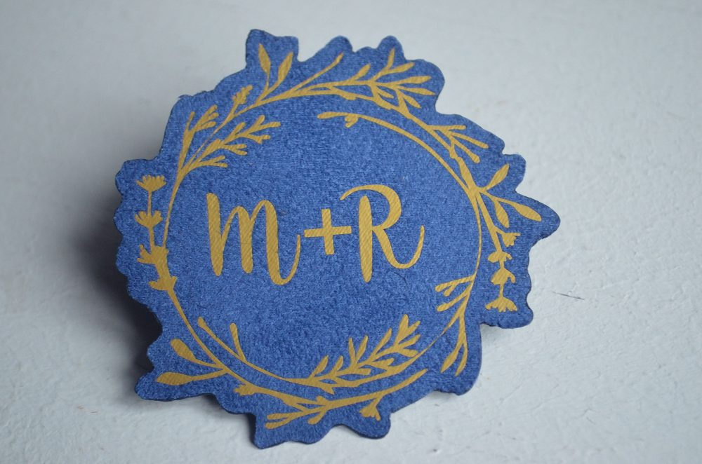 Mr & Mrs Wedding Accessories Something Blue Bridal Patch Tie Groom Personalized Gown Tag Monogram Dress Shower