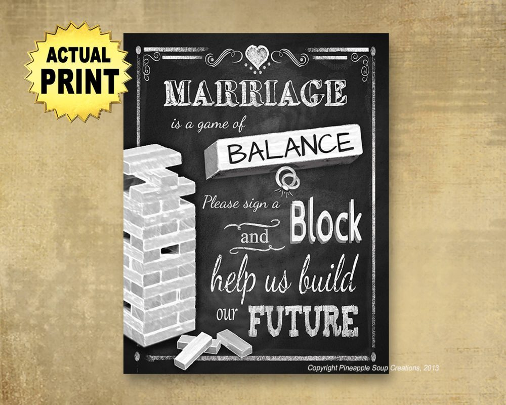 Sign A Block Guestbook, Wedding Print, Guestbook Sign, Wedding Chalkboard Wedding, Wood Blocks Stacking Block Game Sign