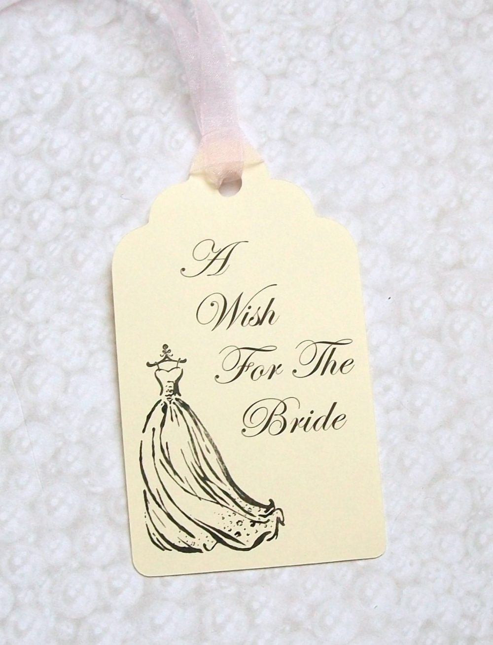 Bridal Shower Wishing Tree Tags - Wedding Gown A Wish For The Bride | Set Of 25