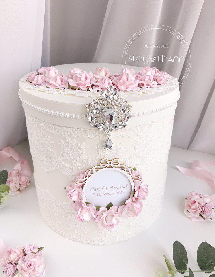 Card Box For Wedding Rustic Chic Reception Holder Personalized Wishing Well Money Neutral Post 1Pc