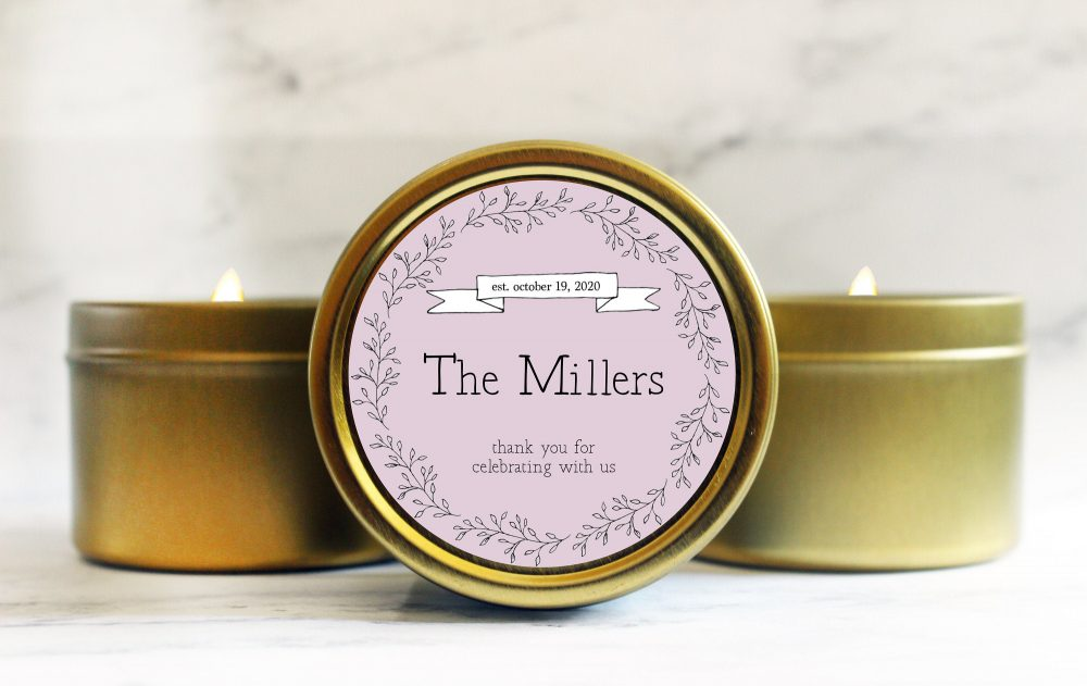 Spring Wedding Favors - Rustic For Guests Unique Favor Candle in Bulk