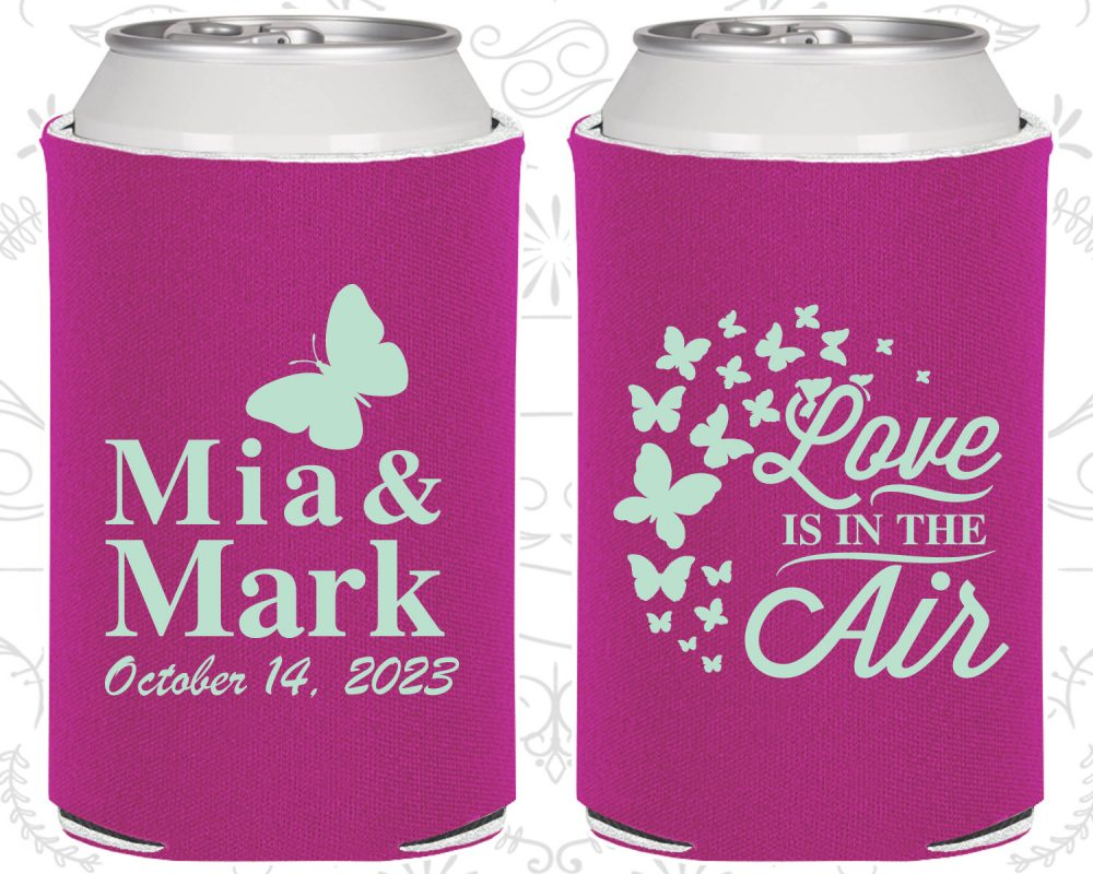 Love Is in The Air, Wedding, Spring Wedding Favors, Butterfly Can Holders | 568