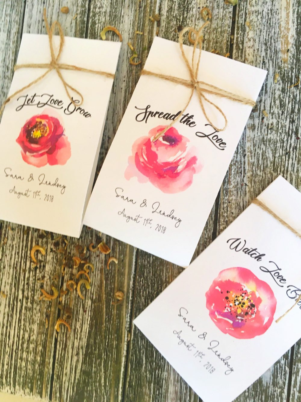 50 Wildflower Packets - Custom Favors Boho Wedding Favors Seeds Included- Favor Flower Navy