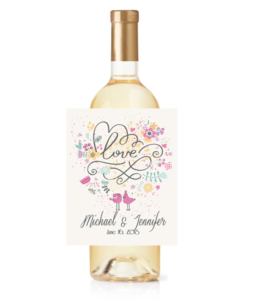 Wedding Wine Labels, Personalized Favors, Bottle Labels