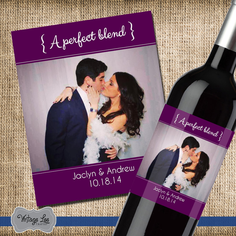Custom Wedding Wine Label, Gift, Engagement Present, Label For Engagement, Favor