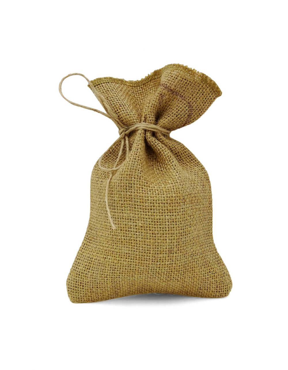 50 Small Drawstring Bag, Jute Pouches, Rustic Wedding Bags, Favor Burlap Sack Bags Pfab-130A
