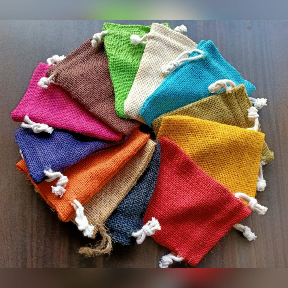 3x4 Burlap Bags in Assorted Colours For Weddings Favor Rustic Inches Burlap