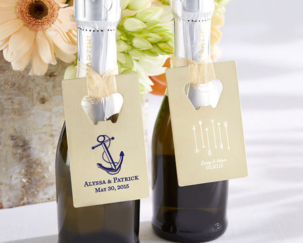 40+ Gold Credit Card Bottle Opener - Personalized Openers Wedding Favors | 11240Gd-Wd