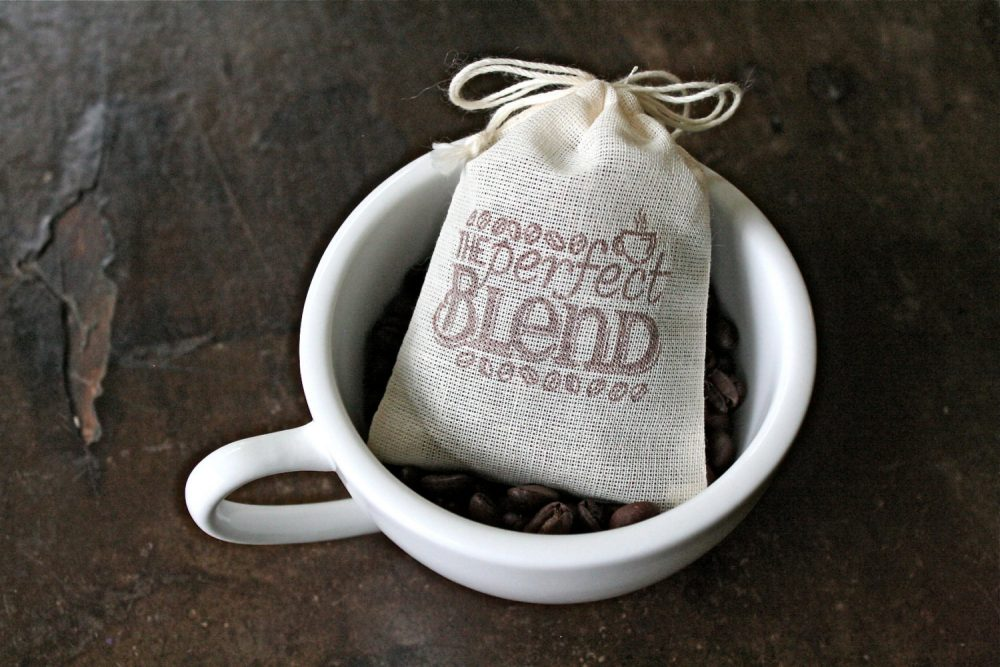 Coffee Favor Bags For Wedding, Shower, Party - The Perfect Blend Cloth Gift Bags Coffee Beans Or Candy, Gift Guest, Small Favor Bag