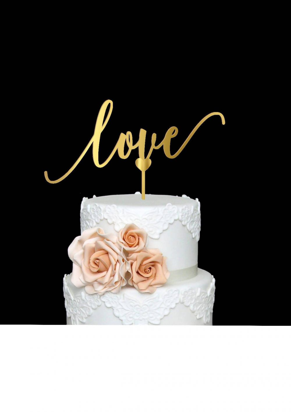 Love Cake Topper Wedding Wood Engagement