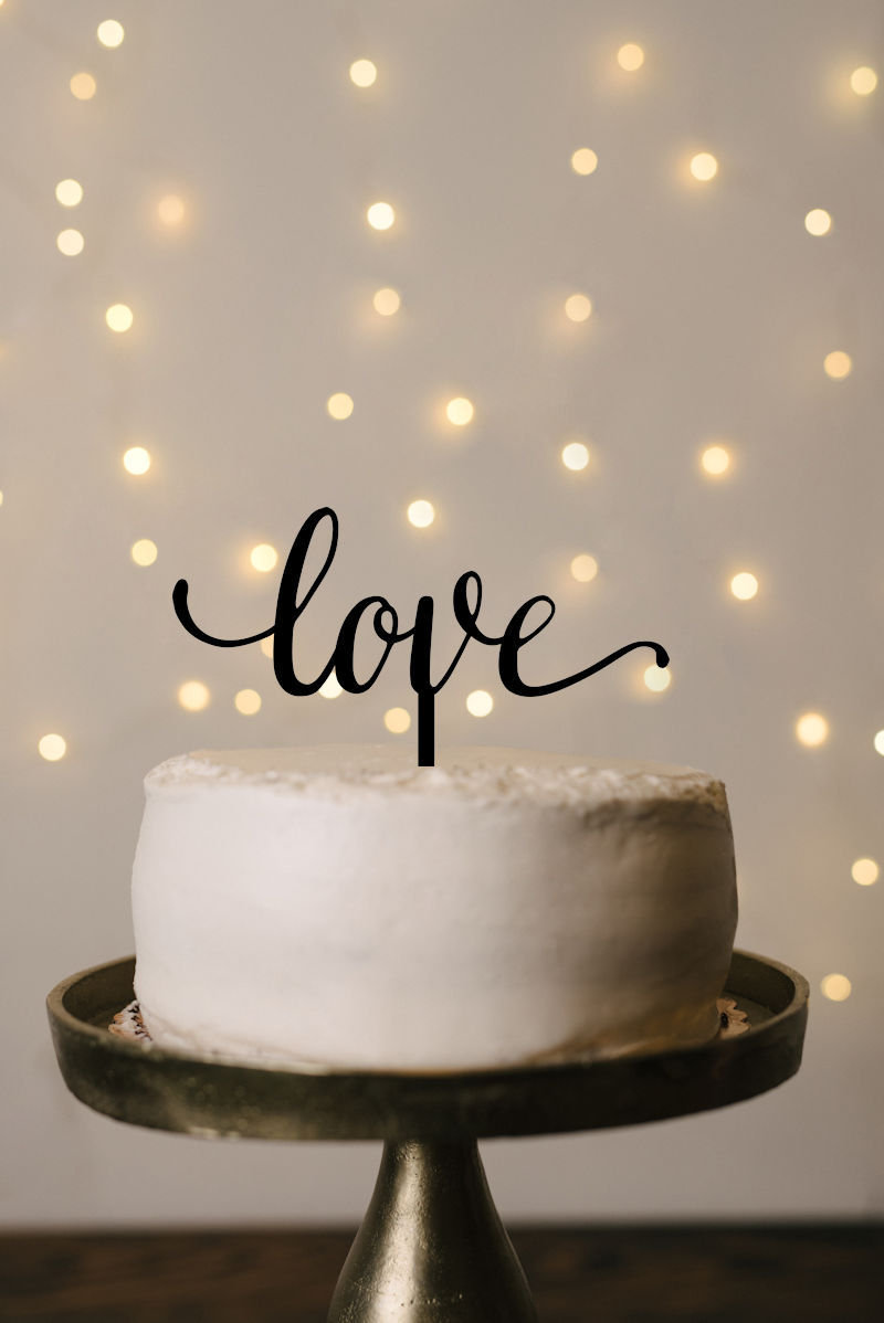 Love Wedding Cake Topper, Love Cake Topper, Wedding Topper Wedding, Love, Script Traditional Top