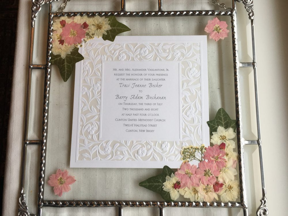 Custom Wedding Keepsake Frame|Framed Invitation|Pressed Flower Art|Wedding Keepsake|Ooak|Handcrafted|Made in Usa