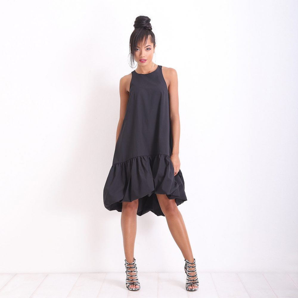 Little Black Dress/ Linen Summer Loose Party Midi Off Shoulder Maxi Kaftan/ Friends Fashion