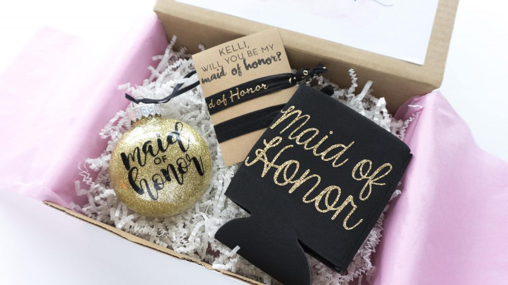 Bridesmaid Proposal Box Gift Christmas Will You Be My Maid Of Honor Matron Thank You Bridal Party Flower Girl Junior