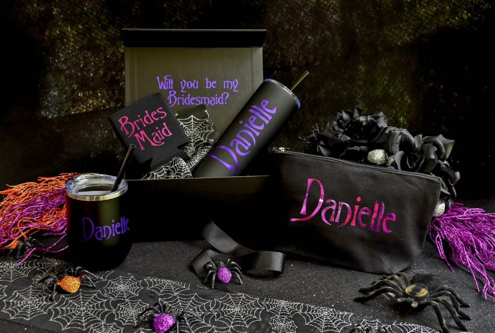 Halloween Inspired Bridesmaid Proposal Box, Maid Of Honor, Matron Nightmare Scary Goth