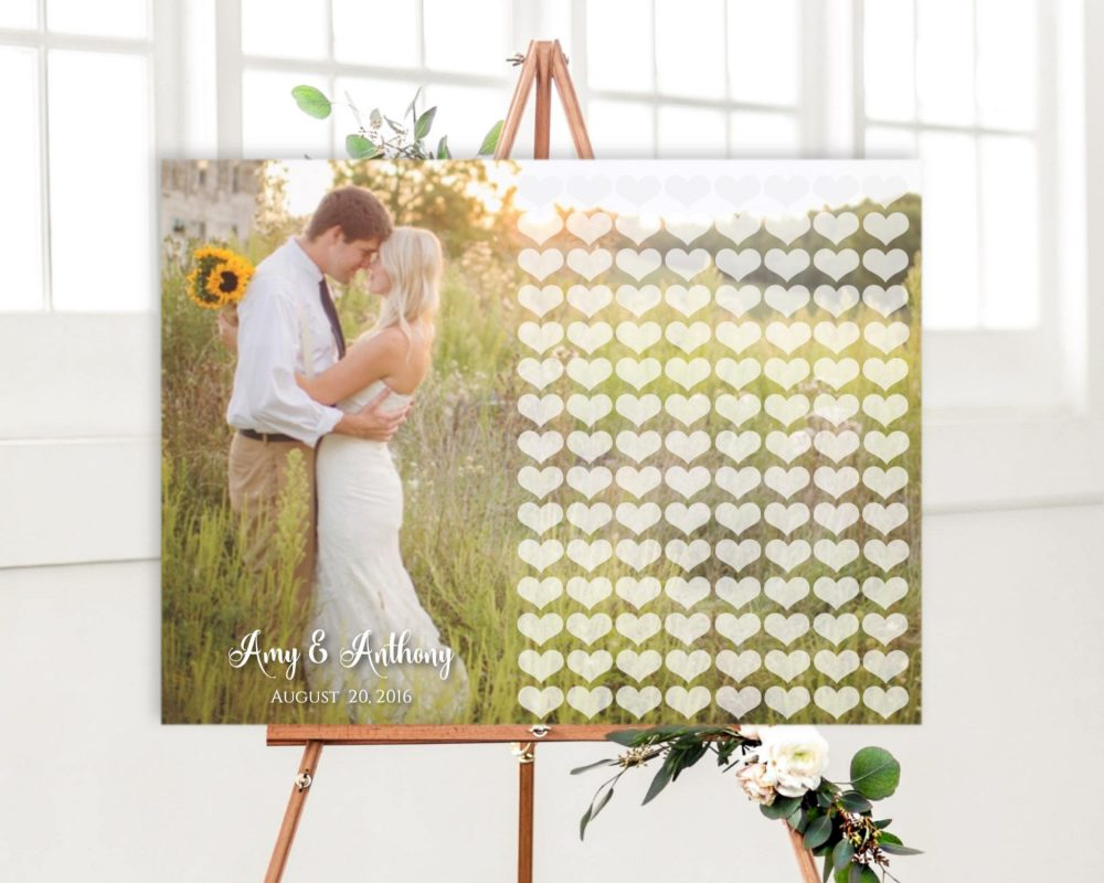 Photo Wedding Guest Book Alternative, Guestbook Canvas, Guest With Photo, Rustic Alternative