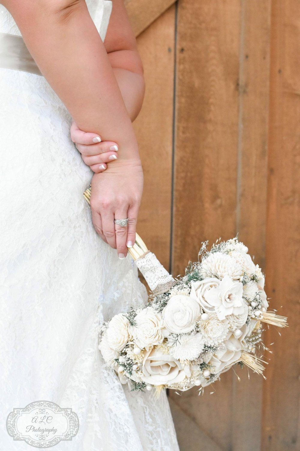 Ivory Wedding Bouquet Made With Sola Flowers - Choose Your Colors Bridal Made To Order Alternative Bouquet Bridesmaids