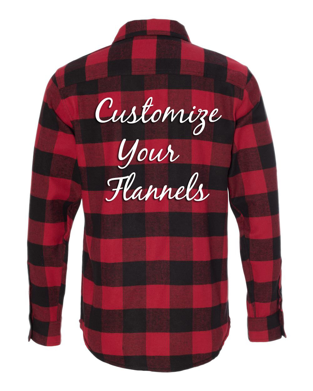 Customized Red Black Buffalo Flannel Shirts Design Your Own Bridesmaids Flannels Red Buffalo Plaid