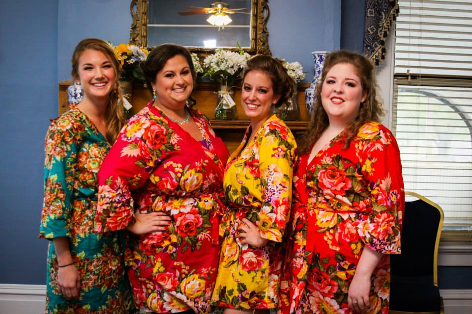 Plus Size Robes, Bridesmaid Robes, Gift, Bridesmaids Robe, Cotton Floral Bridal Shower Favor, Robes