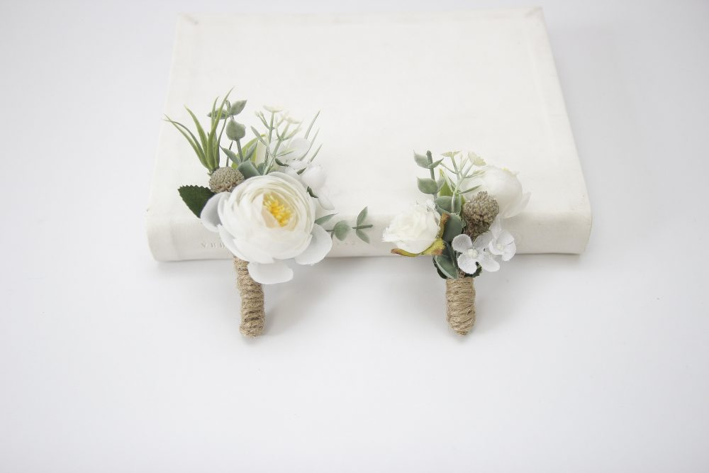 Boutonniere, Rustic Boutonniere For Men, Greenery Wedding Boutonniere, Groomsmen Buttonhole, Flower Accessories, White Set 1238