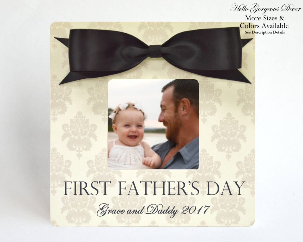 First Father's Day Gift, Dad Picture Frame, Personalized Father Gift For New Dad, Baby Frame