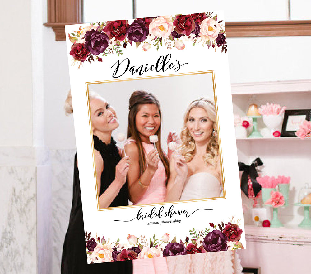 Bridal Shower Photo Prop, Wedding Photo Props, Bridal Shower Booth Frame, Sign, Selfie Frame Prop, Props