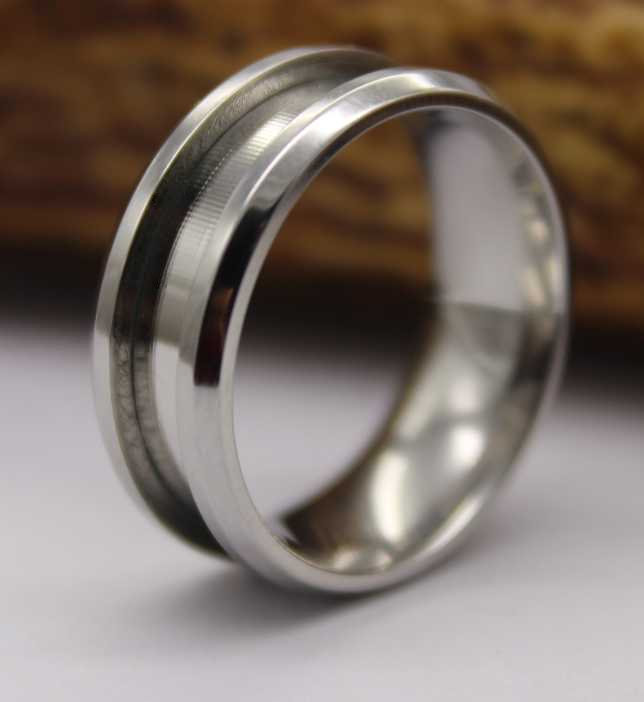 Stainless Steel Ring Core Blank For Inlay