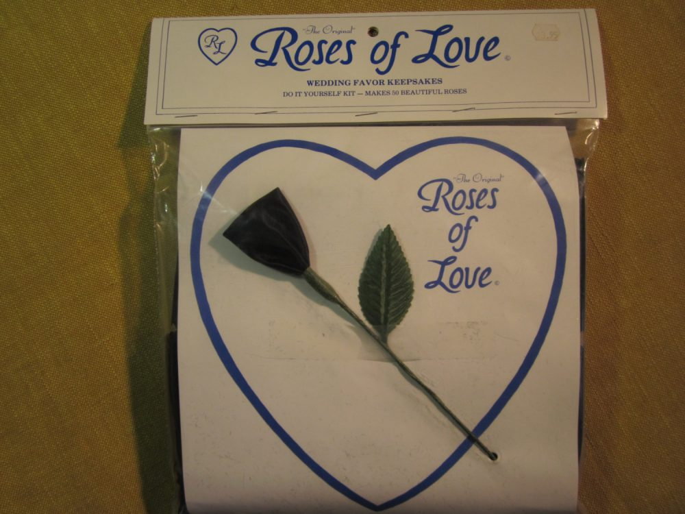 Roses Of Love, Wedding Favors Kit, 50 Make Yourself Roses, Black, Over The Hill, Made in Goldsboro Nc
