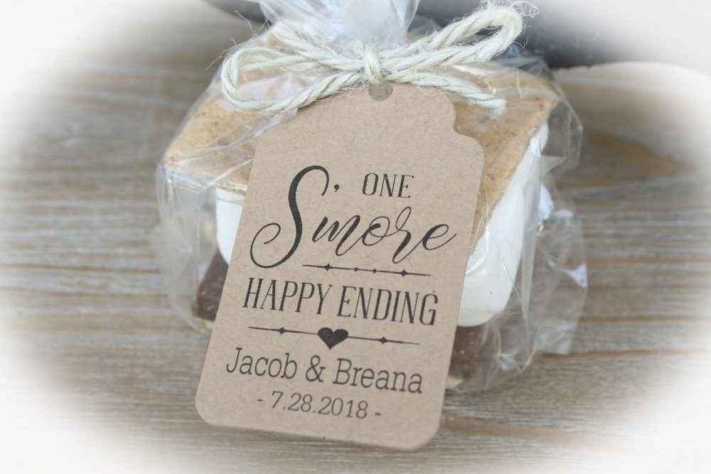 S'more Wedding Favor Kits | Smores One S'more Happy Ending Happy Ending Wedding Favor