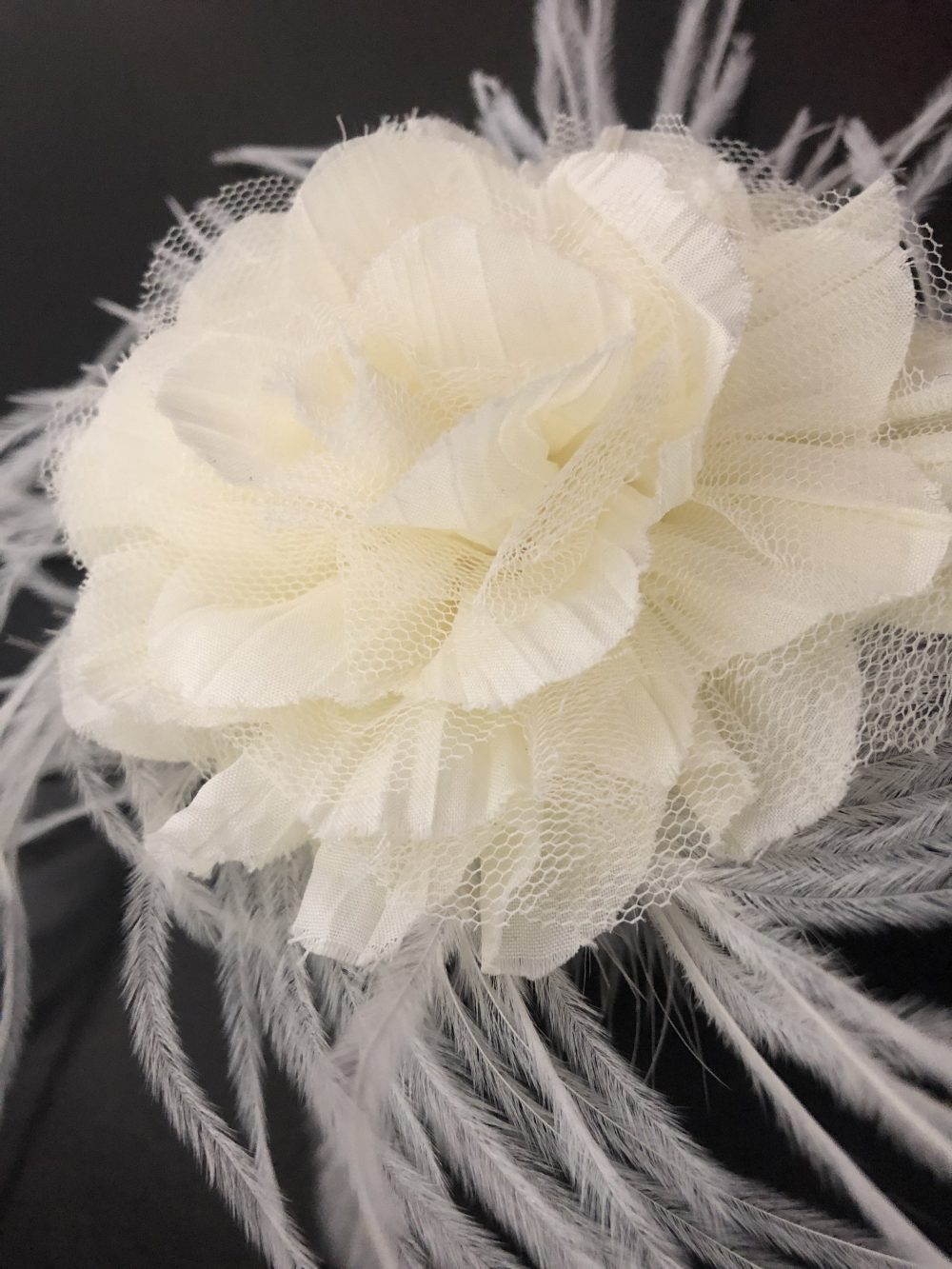 Floral Fascinators, Bridal Headpieces, Wedding Hair Pieces, Ivory Crown, Flower Clip, White, Navy, Dusty Pink Clips