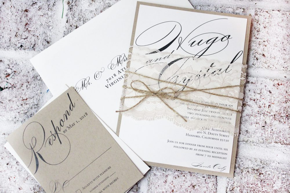 Rustic Wedding Invitation, Lace Invitations, Elegant Wedding Invitations, Barn Invitation, Country Chic Invite Sets, Rustic