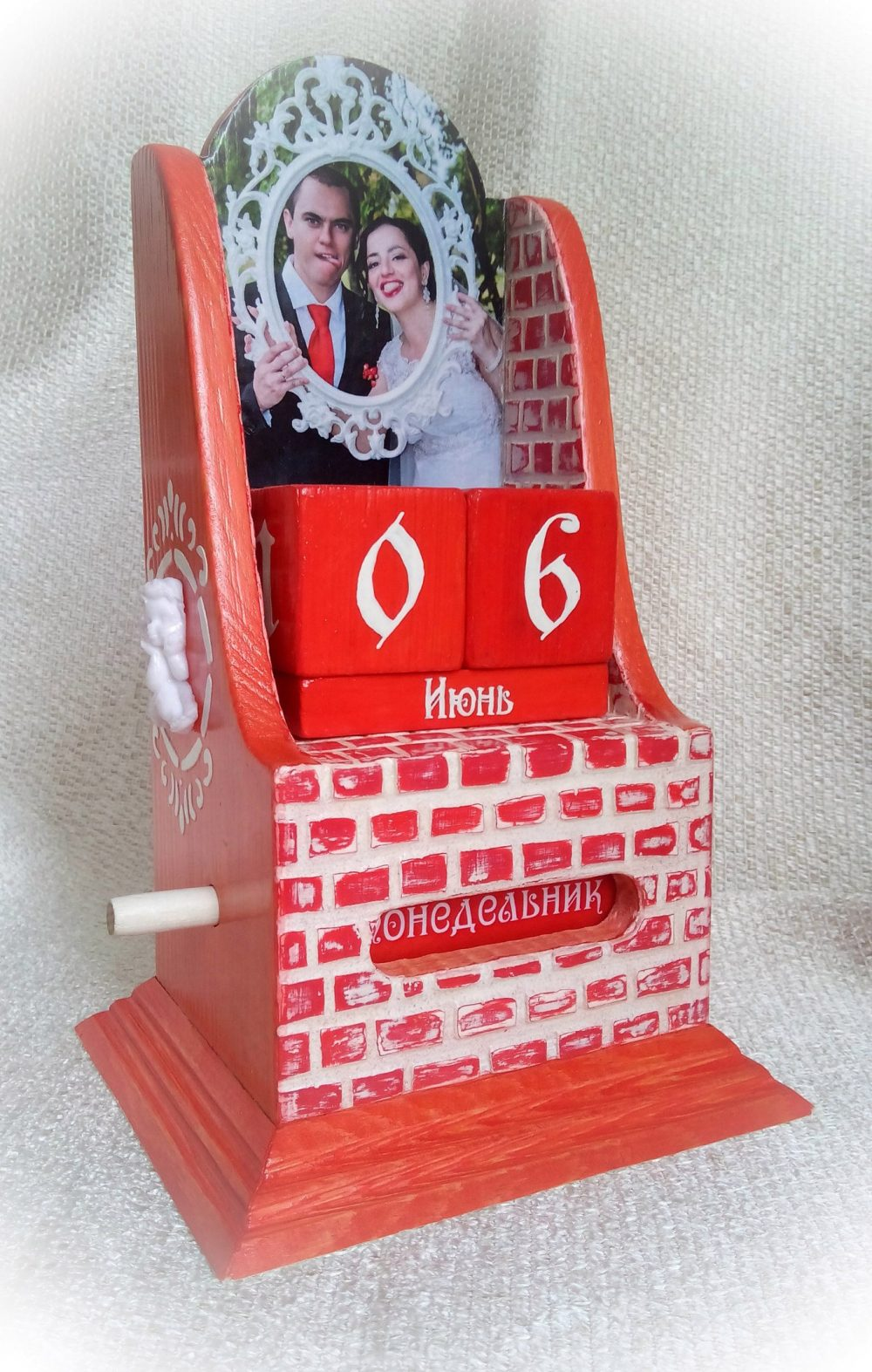 Wooden Perpetual Calendar Wedding Wooden Save The Date Lifetime Photo Wood Anniversary Valentine's Wedding Gift