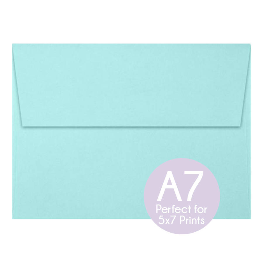 Seafoam Blue Green - A7 5x7 Envelopes Invitation Envelopes, Perfect Photo Cards & Invitations, Wedding Set Of 10