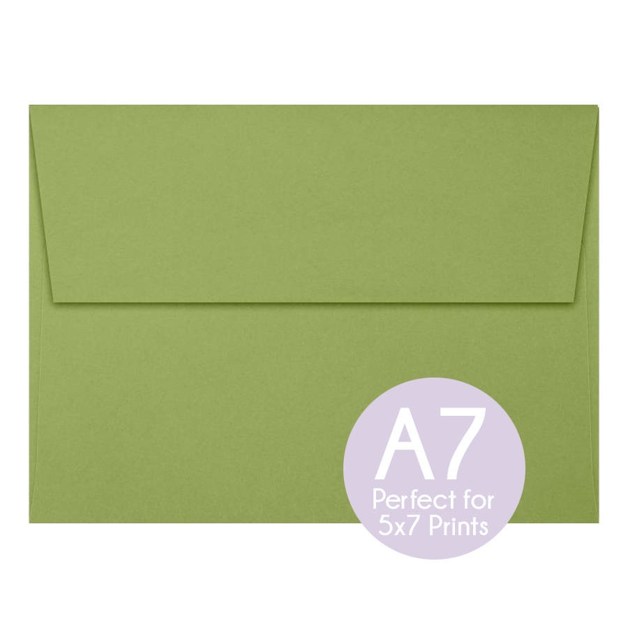 Avocado Green - A7 5x7 Envelopes Invitation Envelopes, Perfect For Photo Cards & Invitations, Wedding Set Of 10
