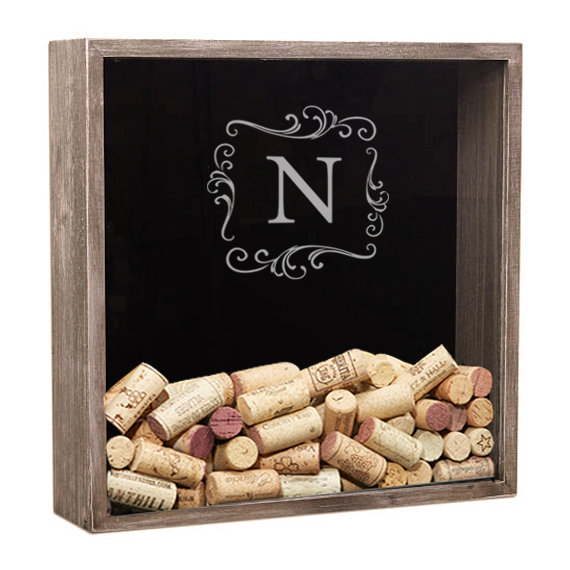 Personalized Wine Cork Holder, Shadow Box Cork, Lover Gift, Wedding Anniversary Gift