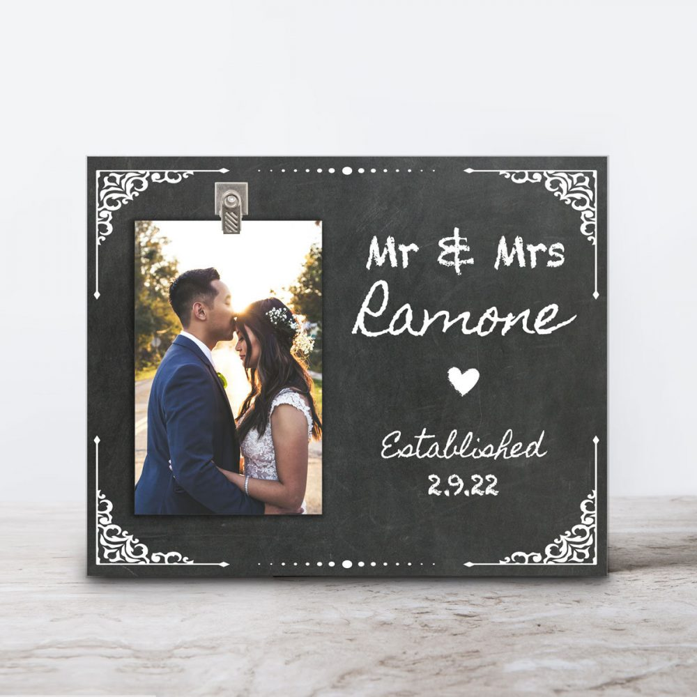 Personalized Wedding Frame - Anniversary -Personalized Picture Photo Newlywed Gift Family Established Bridal