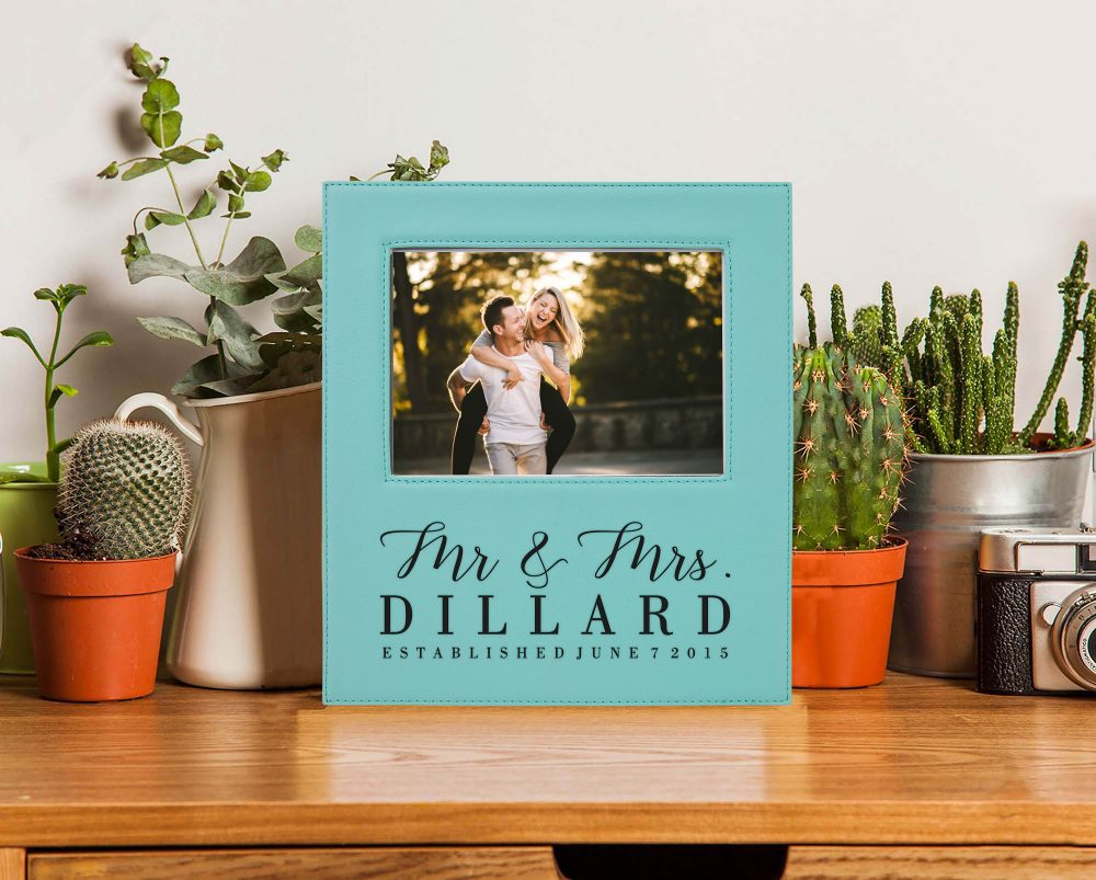 Valentine's Day Picture Frame, Personalized Leather Photo Frame Pfea-T-Dillard